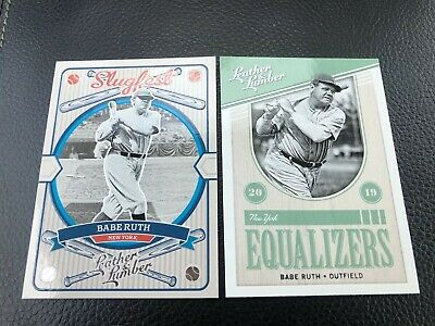 Lot Of 2 2019 Panini Leather and Lumber Inserts Slugfest & Equalizer Babe Ruth