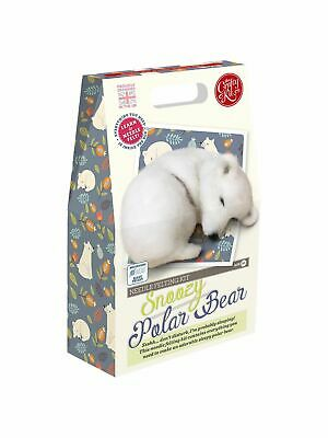 Needle Felting Kit, Snoozy Polar Bear by The Crafty Kit Company