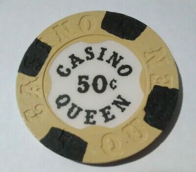 Casino Queen East Illinois .50 Cent Gaming Chip Great For Any Collection!