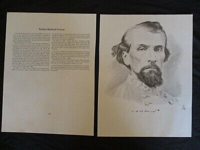 Civil War Bust Image & Bio of Confederate General Nathan Bedford Forrest