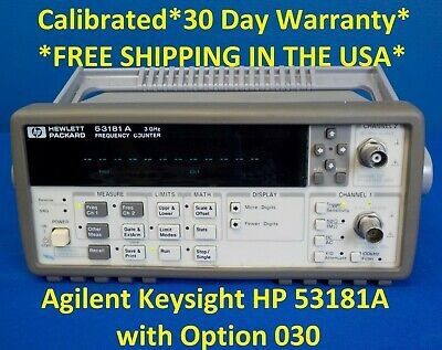 Agilent Keysight HP 53181A w/ Opt: 030  Frequency Counter, 10 digits/s