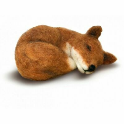 Needle Felting Kit, Sleepy Fox by The Crafty Kit Company