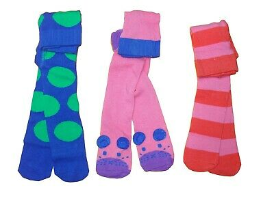 NEXT GIRLS' 3 PACK 3D Mouse , Stripe, Spotty Tights 3-6 MONTHS Fast Shipping
