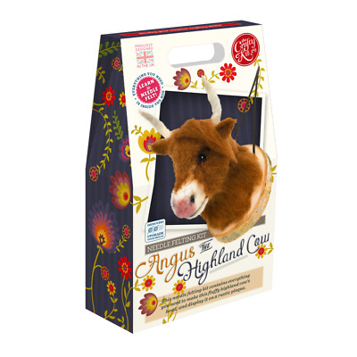 Needle Felting Kit, Angus the Highland Cow by The Crafty Kit Company