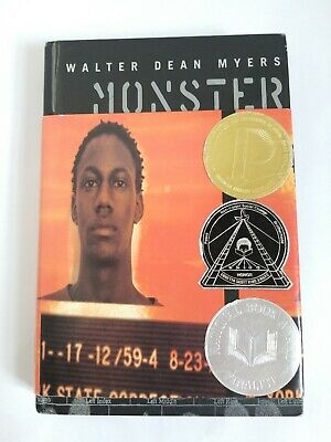 Monster by Walter Dean Myers Hardcover VG Condition
