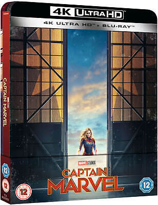Captain Marvel - 4K Uhd + 2D Blu Ray ( Steelbook - Uk Exclusive ), Brie Larson