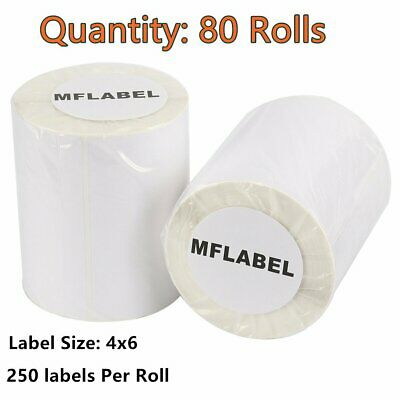 5000 4x6 Direct Thermal Labels Compatible for Zebra LP2844 ZP450