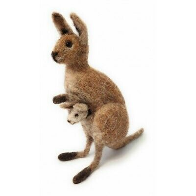 Needle Felting Kit, Kangaroo & Joey by The Crafty Kit Company