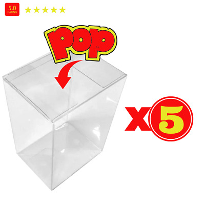 "Pop Protector Case for Funko 4"" Inch Pop! Vinyl Figures, Strong Pop LOT X5 5pack"