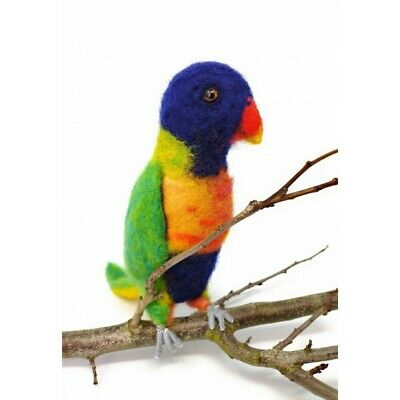 Needle Felting Kit, Rainbow Lorikeet by The Crafty Kit Company