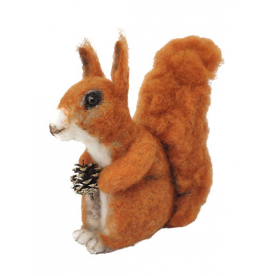 Needle Felting Kit, Red Squirrel by The Crafty Kit Company