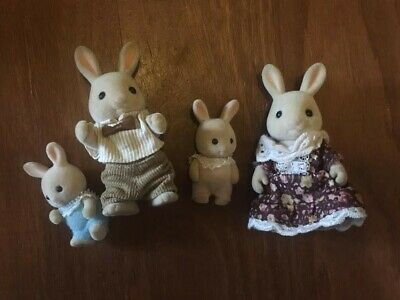 Sylvanian Families Calico Critters Rabbits cream bundle