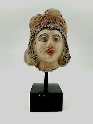 Large Rare Greek Hellenistic Ca.400 Bc Terracotta Head  Of A Lady - R256