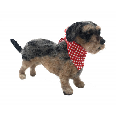 Needle Felting Kit, Wirehaired Dachshund by The Crafty Kit Company