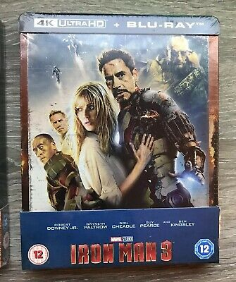 💥💥Steelbook Exclusif Iron Man 3 ZAVVI  - 4K Ultra HD (+2D) MARVEL SOLD OUT💥💥