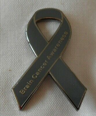 ***NEW*** Brain Cancer Awareness ribbon enamel badge / brooch.Charity.
