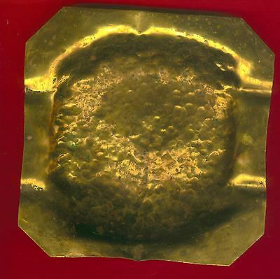 Antique HAND Hammered BRASS Ashtray