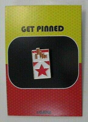 rrd Pack of Cigarettes GET PINNED Enamel lapel tack pin Ganz
