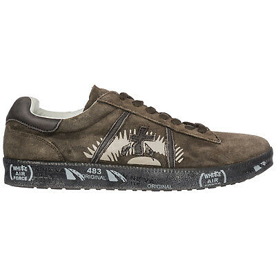 Premiata Men's Shoes Suede Trainers Sneakers New Andy Brown 3E1