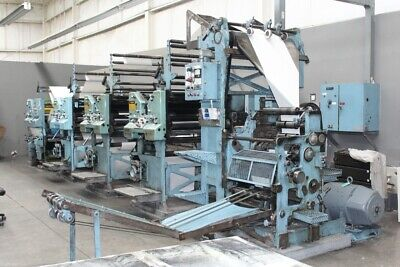 Goss Community Web Press in very good working condition, connected to power.