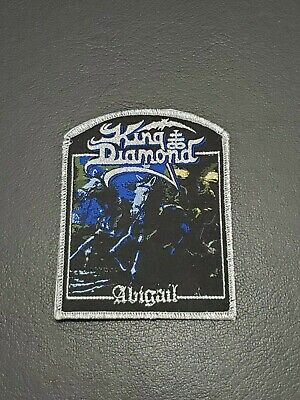 King Diamond Abigail band Metallic Sliver Patch, Iron on Clothing Woven Badge