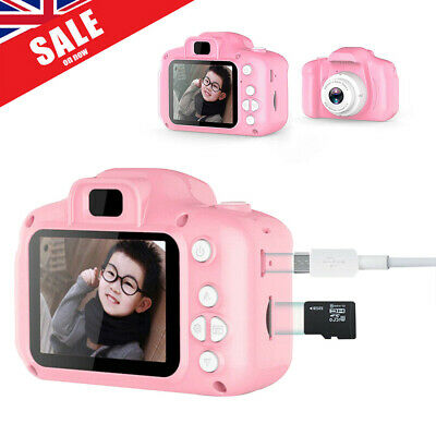 "32GB Kids Children Digital Pink Camera 1080P 2"" LCD Mini Camcorder Gift Support"