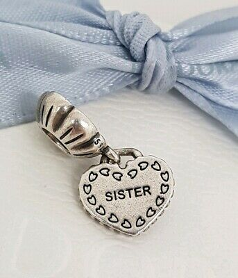 a3df7bf42 Authentic Pandora My Special Sister Heart Dangle Charm Half 791383