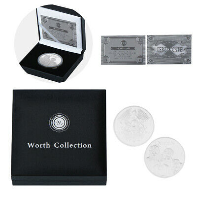 Freddie Mercury Queen Rock & Pop Plated Silver Coin In Box Music Fans Gift