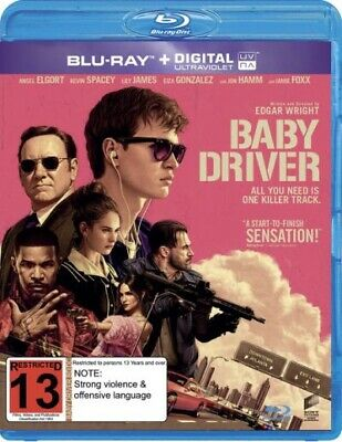Baby Driver Bluray No Digital With Slipcover Like New!