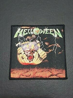 Helloween Mini lp Patch for jacket t-shirt Iron on Backing Clothing Woven Badge