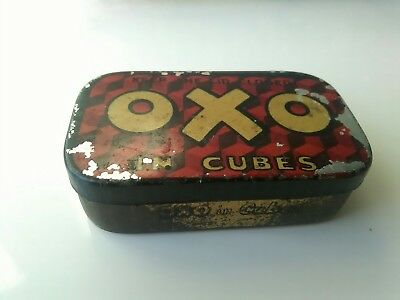 Old Vintage Oxo In  Cubes Oxo Limited London Tin Red & Gold