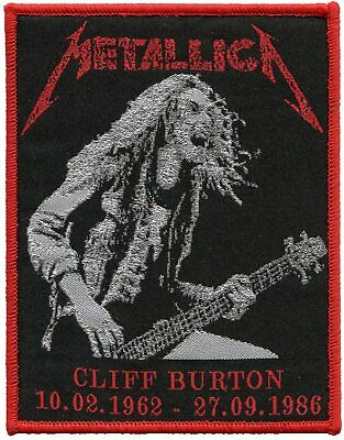 Metallica Band Cliff Burton patch t-shirts, Jeans Iron on Clothing Woven Badge