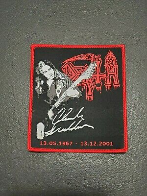 Death Chuck Schuldiner Music Patch T-shirt, Jeans, Iron on Clothing Woven Badge