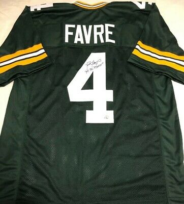 hot sale online 81daf 5a2c9 BRETT FAVRE #4 Signed Green Bay Packers Jersey Autographed ...