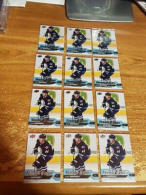 2016-17 (12) Card Lot UD Young Guns Rookie RC Josh Morrissey