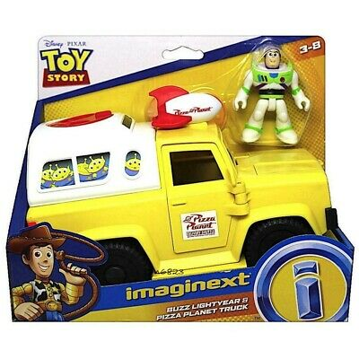 New Imaginext Toy Story 4 Pizza Planet Truck Vehicle + Buzz Lightyear Figure