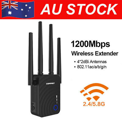 COMFAST WiFi Range Extender 1200Mbps WiFi Repeater 2.4GHz/5.8GHz Dual Band AU!