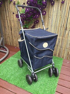 Genuine The Mulberry Sholley Blue Shopping Trolley Mobility Aid Spinner 4 Wheels