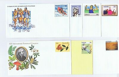 1981 Pre-Stamped Envelopes Year Set (14) Mint, Unaddressed and Never Used