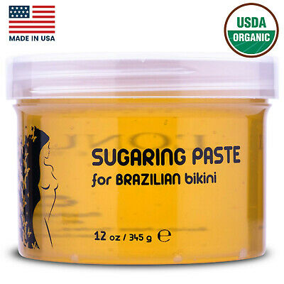 L'Onua Brazilian Sugaring Paste Hard Wax Sugar Hair Removal Organic Bikini Arms