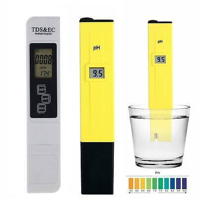 Digital TDS PH Temperature Meter Kit Household Drinking Water Hydroponics Tester