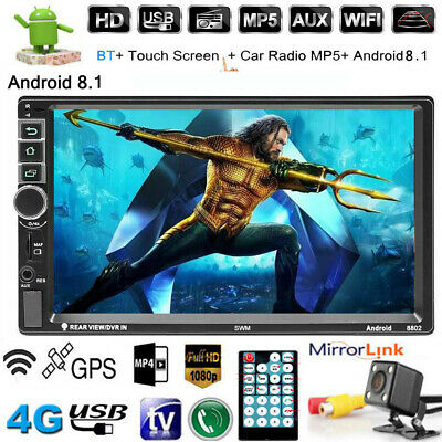 "Android 8.1 Autoradio mit GPS Navigation BLUETOOTH WIFI DOPPEL DIN MP3 7"" +Karte"