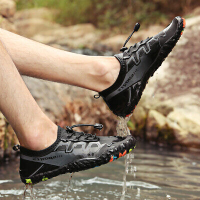Men  Beach Aqua Socks Quick Dry Barefoot Water Shoes for Outdoor Sport Hiking