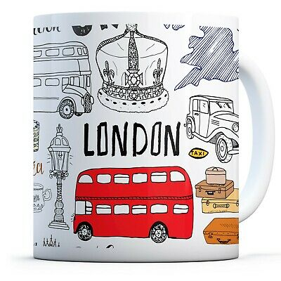London Attraction​​ - Drinks Mug Cup Kitchen Birthday Office Fun Gift #14485