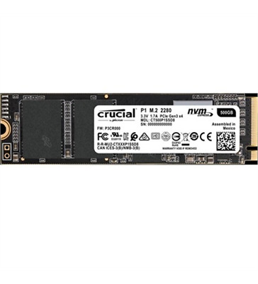 NEW Crucial CT500P1SSD8 Client 500 GB Solid State Drive - PCI Express 3.0 x4