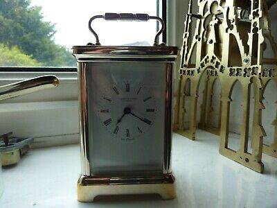 Antique Reproduction 5-GLASS CARRIAGE CLOCK -Good Order Throughout.