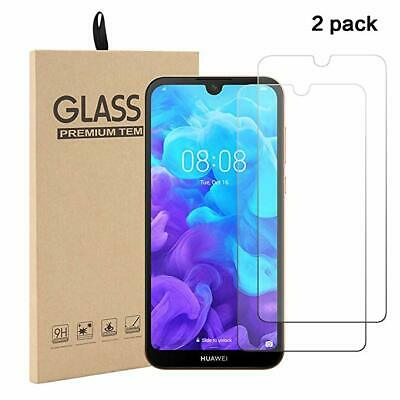 For Huawei Y5 (2019) Premium HD Clear Tempered Glass Screen Protector Film 1/2X