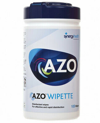 Azo Wipes Hard Surface Disinfectant Wipes Canister 100pcs