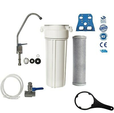 Single Home Drinking Water Filter With Faucet & Accessories Domestic Under Sink
