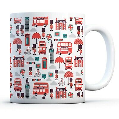 London Attraction​​s - Drinks Mug Cup Kitchen Birthday Office Fun Gift #14506